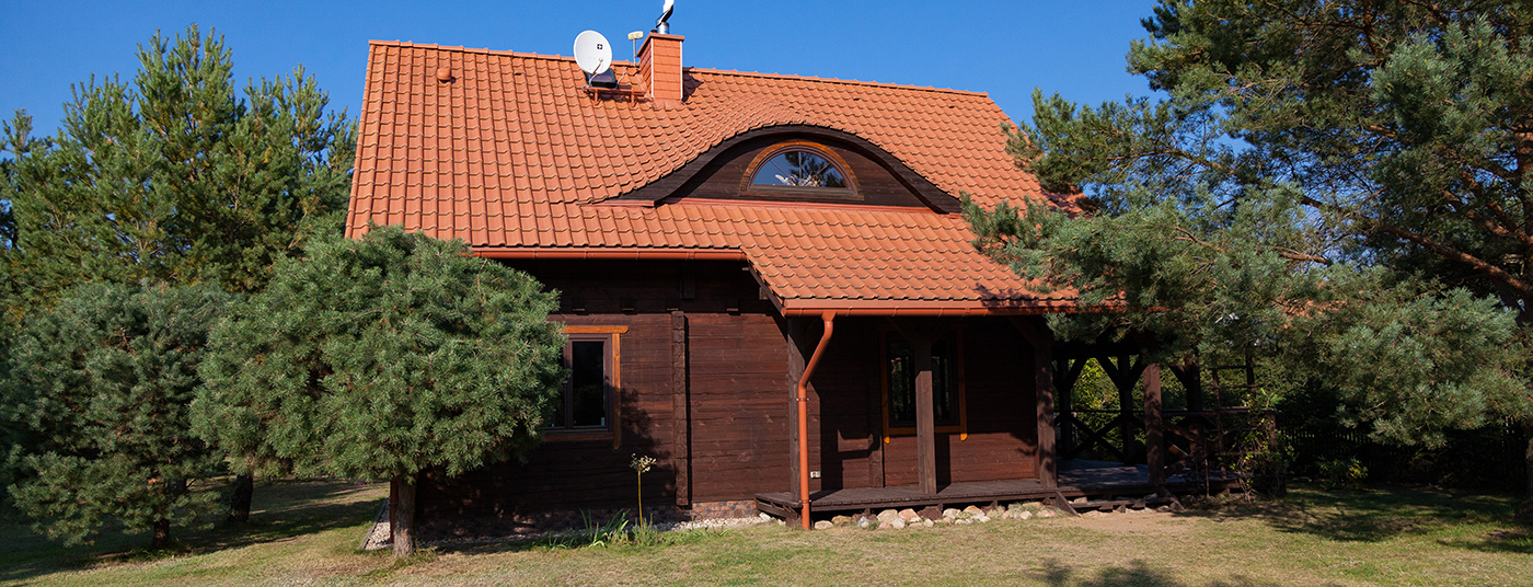 Dom z bali o <strong>powierzchni 120 m²</strong>